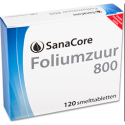 SanaCore Foliumzuur 800 120 smelttab