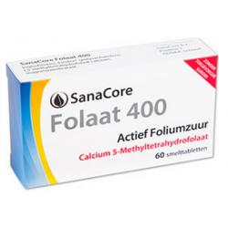 SanaCore Folaat 400 Calcium  60 smelttab