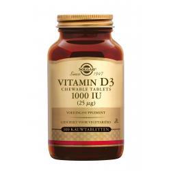 Vitamin D-3 25 µg/1000 IU Chewable Tablets