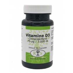 Reformhuis Steenwijk Vitamine D3 Cholecalciferol 75 ug / 3000 IE 90 caps